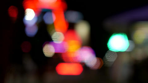 Urban downtown background defocused - blurry bokeh effect 영상물