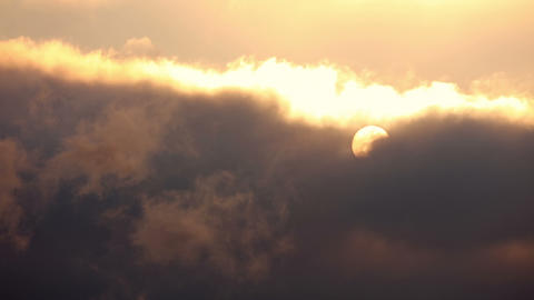 Thick Clouds and Sun. Fast Motion Footage
