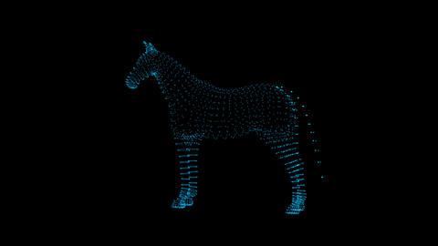 Horse Hologram GIF
