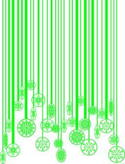 Christmas green barcode ベクター