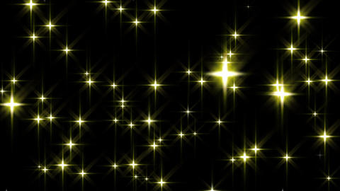 Golden Stars Background Loop Animation