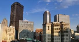 Pittsburgh Skyline at Dusk Footage