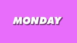 Isometric Weekday Animation Monday Footage