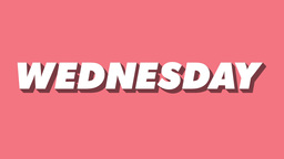 Isometric Weekday Animation Wednesday Footage