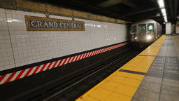 Subway Train Approaches Grand Central Terminal Footage