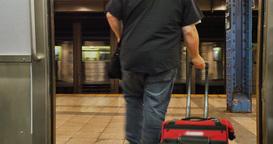 Man Exits Subway Train Footage