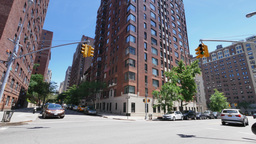 Typical New York Style Apartment Building Establishing Shot Footage