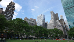Manhattan Skyline as Seen from Bryant Park Footage