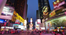 Night Time Lapse of Times Square Tourists Footage