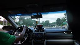 Passenger POV Taxi Cab Ride Footage