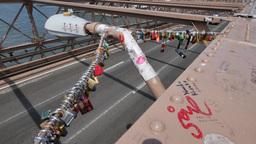 Locks on Brooklyn Bridge Footage