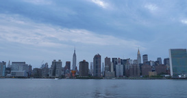 Dusk Wide Manhattan Establishing Shot Footage