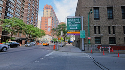 Queens Midtown Tunnel Entrance Establishing Shot Footage