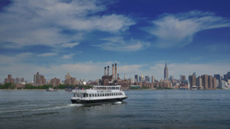 East River Ferry Establishing Shot Footage
