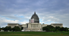 Timelapse View US Capitol Building stock footage