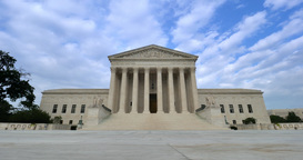 US Supreme Court Timelapse View with No People Footage