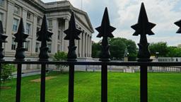 US Department of Treasury Establishing Shot Footage
