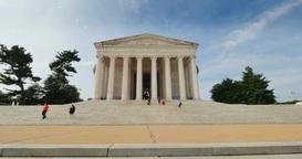Tourists Visit the Jefferson Memorial Footage