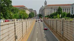 Establishing Shot of Traffic in Washington DC Footage