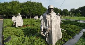 Korean War Memorial Establishing Shot Footage