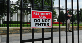 Restricted Area in Front of the White House Footage