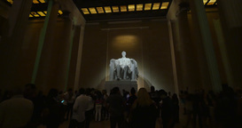 Interior Lincoln Memorial At Night stock footage