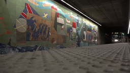 Pittsburgh Subway Approaches Gateway Platform Footage
