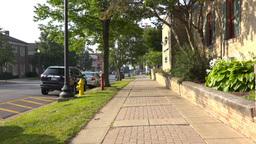 Walking POV Down Sidewalk Footage