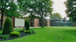Day High School Building Establishing Shot GIF