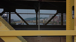 Cars Travel Over Lower Deck Of Fort Duquesne Bridge stock footage