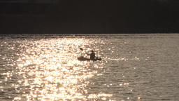 Evening Kayaker in Pittsburgh Footage