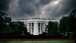 Ominous Storm Clouds Over White House in Washington D.C Footage