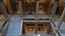 Interior Carnegie Museum Atrium Footage