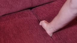 Finding Car Keys in Sofa Cushions Footage