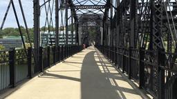 Hot Metal Street Bridge Sidewalk Perspective Footage