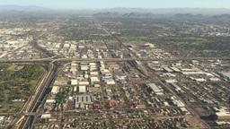 Phoenix Arizona Aerial Landscape stock footage