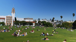 Mission Dolores Park Day Establishing Shot Footage