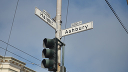 Haight Ashbury Intersection Establishing Shot Footage