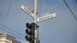 Haight Ashbury Intersection Establishing Shot Footage