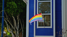 Gay Pride Flag in Castro District ビデオ
