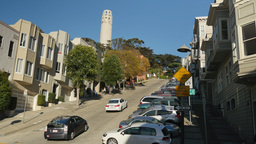 Telegraph Hill Establishing Shot with Coit Tower Footage