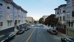 San Francisco Driving POV Downhill Footage