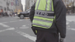New York Police Officer Directs Traffic Footage