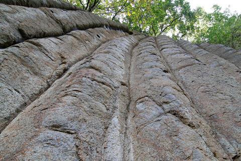 Rest of several lava flows - basalt columnar jointing Photo