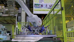 Automated Robotic Arm Automotive Car Industrial Automation Assembly Line Footage