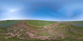 Irrigation system on agricultural land VR360 Footage