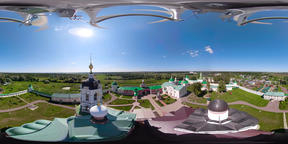 Christian church and monastery VR360 Footage
