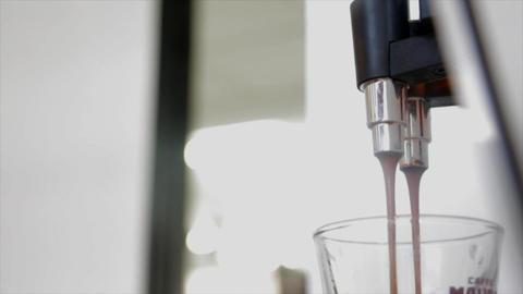 Espresso machine coffee Footage