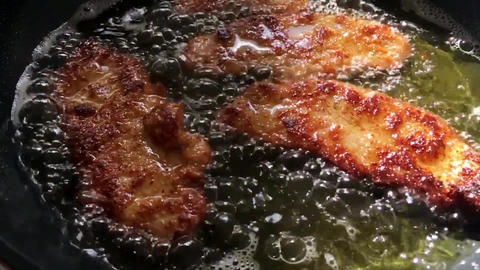 Schnitzel meat cooking cutlet Live Action
