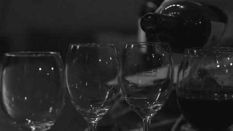 Glasses red wine drink Footage